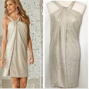 NWOT Boston Proper Gold Shimmer Dress
